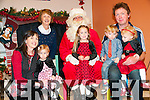 Moyvane ICA Family Fun Day: Attending the Moyvane ICA family fun day at The Marian Hall, Moyvane on Sunday Last were Ena, Zoe, Lucy, Eoin, Amy & John McEvoy with Noreen McEvoy & Santa Clause.