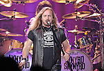 Lead singer Johnny Van Zant with Lynryd Skynyrd.  Lynyrd Skynyrd and Allman Brothers Band in concert at the Von Braun Centeer arena.    Bob Gathany photo.