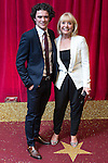 © Licensed to London News Pictures . 16/05/2015 .  The Palace Hotel , Manchester , UK . Jonny Labey and Lin Blakley . The red carpet at the 2015 British Soap Awards , The Palace Hotel , Oxford Road , Manchester . Photo credit : Joel Goodman/LNP