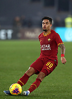 Football, Serie A: AS Roma - S.S. Lazio, Olympic stadium, Rome, January 26, 2020. <br /> Roma's Justin Kluivert in action during the Italian Serie A football match between Roma and Lazio at Olympic stadium in Rome, on January,  26, 2020. <br /> UPDATE IMAGES PRESS/Isabella Bonotto