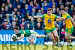 Paul Murphy Kerry in action against Tony McClenaghan Donegal in the Allianz Football League Division 1 Round 1 match between Kerry and Donegal at Fitzgerald Stadium in Killarney, Co. Kerry.
