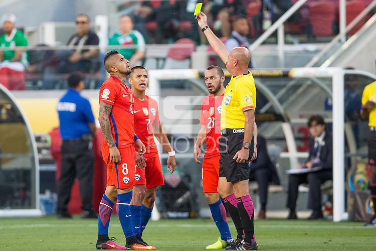Santa Clara, California - Saturday, June 18, 2016: Chile defeated Mexico 7-0 in Copa America Centenario at Levi's Stadium.