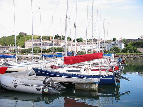 Puppeteers in strength in Howth Marina. In background at centre of photo is Howth House, where Herbert Boyd designed the Howth 17s in the Autumn of 1897