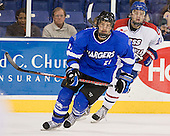 Jeff Vanderlugt (UAH - 21), Jake Suter (UML - 28) - The University of Massachusetts-Lowell River Hawks defeated the University of Alabama-Huntsville Chargers 3-0 on Friday, November 25, 2011, at Tsongas Center in Lowell, Massachusetts.