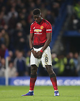 Manchester United's Paul Pogba celebrates scoring his side's second goal <br /> <br /> Photographer Rob Newell/CameraSport<br /> <br /> Emirates FA Cup Fifth Round - Chelsea v Manchester United - Monday 18th February - Stamford Bridge - London<br />  <br /> World Copyright © 2019 CameraSport. All rights reserved. 43 Linden Ave. Countesthorpe. Leicester. England. LE8 5PG - Tel: +44 (0) 116 277 4147 - admin@camerasport.com - www.camerasport.com