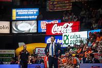 VALENCIA, SPAIN - OCTOBER 20: Pedro Martinez during EUROCUP match between Valencia Basket Club and CAI Zaragozaat Fonteta Stadium on   October 22, 2015 in Valencia, Spain