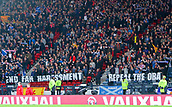 5th October 2017, Hampden Park, Glasgow, Scotland; FIFA World Cup Qualification, Scotland versus Slovakia;  Scotland fans display their pre match banners