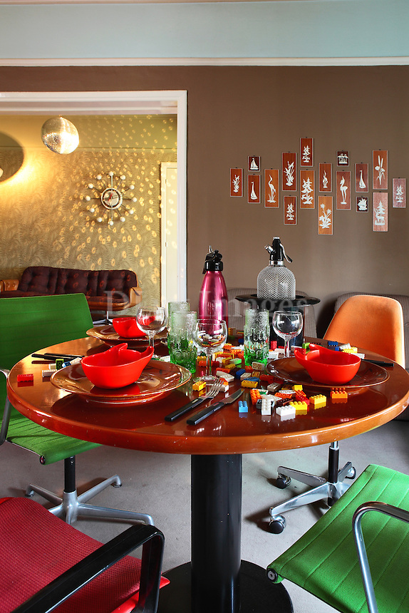 modern colorful dining set