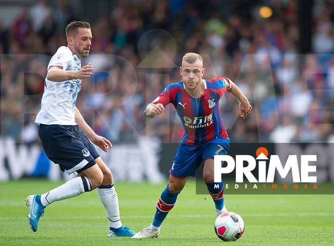 Crystal Palace Max Meyer and Everton Gylfi Sigurdsson during the Premier League match between Crystal Palace and Everton at Selhurst Park, London, England on 10 August 2019. Photo by Andrew Aleksiejczuk / PRiME Media Images.