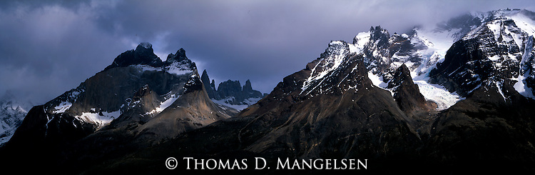 Peaks in Torres del Paine National Park, Chile.