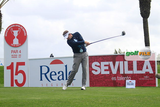 Sam Little (ENG) tees off on the 15th tee during Friday's Round 2 of the Open de Espana at Real Club de Golf de Sevilla, Seville, Spain, 4th May 2012 (Photo Eoin Clarke/www.golffile.ie)