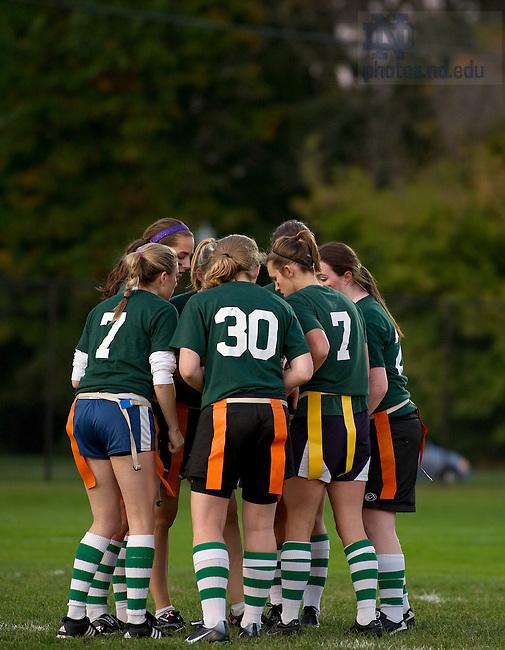 Oct. 4, 2011; Women's interhall flag football..Photo by Matt Cashore/University of Notre Dame