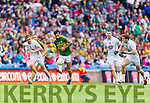 Paul Galvin, Kerry in action against Paul Cribbin, Kildare in the All Ireland Quarter Final at Croke Park on Sunday.