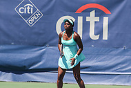 Washington, DC - August 5, 2017: Sloane Stephens (USA) in action during the match at Rock Creek Park Tennis Center in Washington, DC. (Photo by Elliott Brown/Media Images International)