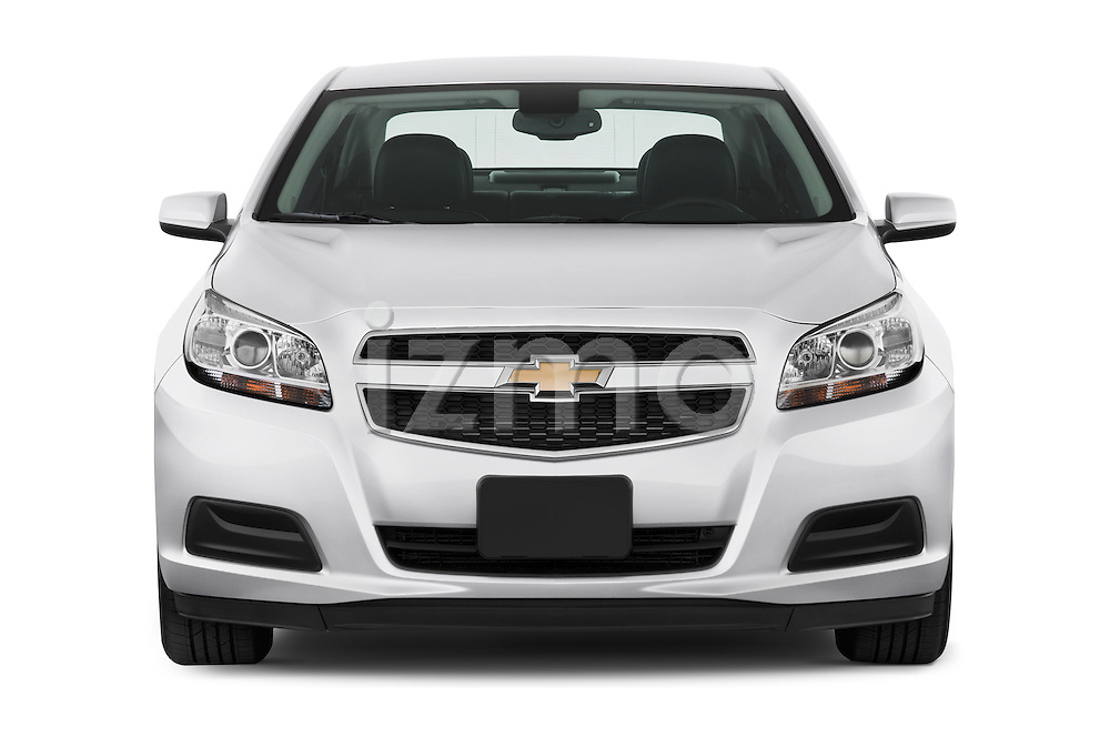 Straight front view of a 2013 Chevrolet Malibu ECO 1SA