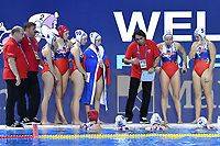 HENKRICH Milan SVK Coach time out  <br /> Budapest 12/01/2020 Duna Arena <br /> SLOVAKIA (white caps) Vs. RUSSIA (blue caps)<br /> XXXIV LEN European Water Polo Championships 2020<br /> Photo  © Andrea Staccioli / Deepbluemedia / Insidefoto