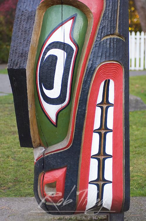 Canada, BC, Victoria, Thunderbird Park, Totem Pole