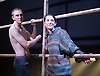 Yen<br /> by Anna Jordan <br /> at The Royal Court Theatre, London, Great Britain <br /> 22nd January 2016 <br /> Press Photocall <br /> <br /> Alex Austin as Hench <br /> Annes Elwy as Jenny <br /> <br /> Photograph by Elliott Franks <br /> Image licensed to Elliott Franks Photography Services