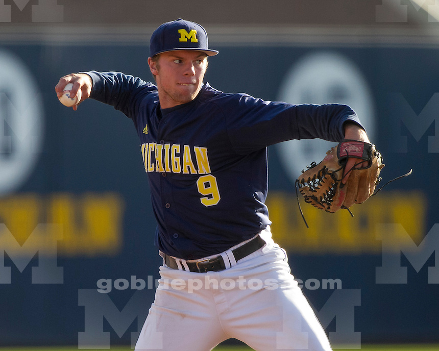 The University of  Michigan baseball team beat the Ontario Blue Jays, 8-5, in a 14-inning exhibition at the Wilpon Baseball Complex in Ann Arbor, Mich., on October 9, 2012.