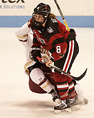 Andrea Renner (NU - 8) - The Boston College Eagles defeated the Northeastern University Huskies 2-1 to win the Beanpot on Monday, February 7, 2017, at Matthews Arena in Boston, Massachusetts.