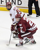 Chris Kreider (BC - 19), Justin Braun (UMass - 27) - The Boston College Eagles defeated the University of Massachusetts-Amherst Minutemen 2-1 (OT) on Friday, February 26, 2010, at Conte Forum in Chestnut Hill, Massachusetts.
