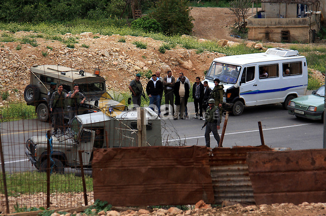 Israeli troops shut down al-Hamra checkpoint during a military operation searching for explosives on the outskirts of the West Bank Jordan Valley, Friday, March  25, 2011. Photo by Wagdi Eshtayah
