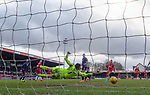 08.03.2020: Ross County v Rangers: Ryan Ken't shot takes a deflection as it beats keeper Ross Laidlaw