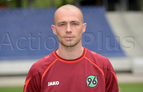 11.07.2013. Hannover, Germany.  Player Christian Pander of German Bundesliga club Hannover 96 during the official photocall for the season 2013-14 in the HDI Arena in Hannover (Lower Saxony).