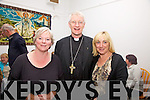 Bishop of Kerry Ray Browne pictured at the Cahersiveen Community Centre on Saturday night last with l-r; Catherine Cournane & Sandra Murphy.