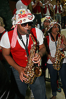 SAN ANTONIO, TX - APRIL 4:  The Stanford Band at a rally before Stanford's 73-66 win over Oklahoma in the Final Four semi-finals at the Alamo Dome on April 4, 2010 in San Antonio, Texas.