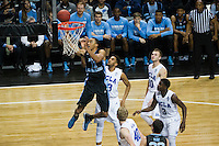 BROOKLYN, NY - Saturday December 19, 2015: Brice Johnson (#11) of North Carolina goes up for a lay-up against ULCA as the two square off in the CBS Classic at Barclays Center in Brooklyn, NY.  North Carolina would go on to win 89-76.