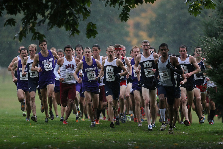 October 27, 2012; Portland, OR, USA; Portland Pilots, Loyola Marymount Lions BYU Cougars Saint Mary's Gaels during the WCC Cross Country Championships at Fernhill Park.