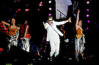 Justin Bieber performs at the Palacio de los deportes, Madrid