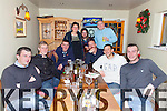 Staff from Ballycarbery Shellfish enjoying their Christmas Party in the Kerry Coast Hotel, Cahersiveen on Friday night pictured l-r; Patrick O'Donoghue, Kieran Moriarty, Timothy Coffey, Lucy Heisserer, Gerry Fitzgerald, Paul Coffey, Richie Taylor, Lesly Demougeot & Rory Keating.