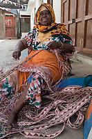 Stone Town, Zanzibar, Tanzania.  Basket Maker.