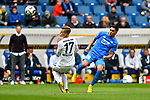 14.04.2019, PreZero Dual Arena, Sinsheim, GER, 1. FBL, TSG 1899 Hoffenheim vs. Hertha BSC Berlin, <br /> <br /> DFL REGULATIONS PROHIBIT ANY USE OF PHOTOGRAPHS AS IMAGE SEQUENCES AND/OR QUASI-VIDEO.<br /> <br /> im Bild: Maximilian Mittelstädt/ Mittelstaedt (#17, Hertha BSC Berlin) gegen Nadiem Amiri (TSG Hoffenheim #18)<br /> <br /> Foto © nordphoto / Fabisch
