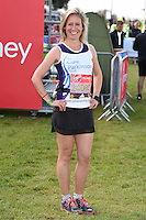 Sophie Raworth<br /> at the start of the 2016 London Marathon, Blackheath, Greenwich London<br /> <br /> <br /> &copy;Ash Knotek  D3108 24/04/2016