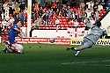 Craig Reid of Stevenage denied. - Walsall v Stevenage - npower League 1 - Banks's Stadium, Walsall - 24th March, 2012  .© Kevin Coleman 2012