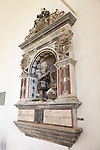 Richard Cornwallis memorial monument in church at Cretingham, Suffolk, England, UK
