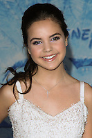 "HOLLYWOOD, CA - NOVEMBER 19: Bailee Madison at the World Premiere Of Walt Disney Animation Studios' ""Frozen"" held at the El Capitan Theatre on November 19, 2013 in Hollywood, California. (Photo by David Acosta/Celebrity Monitor)"