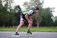 INLINE-SKATEN: STEENWIJK: Gagelsweg (start/finish), Schansweg, Meppelerweg, KPN Inline Cup, Klim van Steenwijk, 02-05-2012, Felix Rijhnen (#528), ©foto Martin de Jong