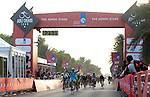 Andrea Guardini (ITA) Astana wins Stage 1, The ADNOC Stage, of the 2015 Abu Dhabi Tour running 174 km from Qasr Al Sarab to Madinat Zayed, Abu Dhabi. 8th October 2015.<br /> Picture: ANSA/Claudio Peri | Newsfile
