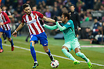 Atletico de Madrid's forward forward Yannick Ferreira Carrasco (L) and FC Barcelona's forward Neymar Santos Jr (R) competes for the ball with  during the match of Copa del Rey between Atletico de  Madrid and Futbol Club Barcelona at Vicente Calderon Stadium in Madrid, Spain. February 1st 2017. (ALTERPHOTOS/Rodrigo Jimenez)