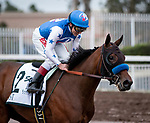 CYPRESS, CA: December 07: #2 Bast and Drayden VanDyke win the Grade I Starlet Stakes at Los Alamitos Race Course on December 07, 2019 in Cypress, California (Photo by Chris Crestik/Eclipse Sportswire)