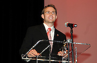 DC United defender Bryan Namoff recipient of the Defender of the Year Award.   At the 6th Annual DC United Awards Presentation ,at the Atlas Performing Arts Center in Washington DC ,Wednesday October 27, 2009.