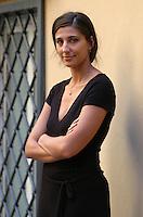 "EVITA CIRI.Photocall for the film ""Parada"" in .Rome, Italy, September 17th 2008..half length black dress ams folded .CAP/CAV.©Luca Cavallari/Capital Pictures"