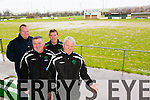 Denis Guerin (KDL) John O'Regan (Secretary KDL), Tommy Naughton, Sean O'Keeffe (Chairman) are saying goodbye Old pitch,  Hello New all weather