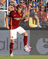 Calcio, Serie A: Frosinone vs Roma. Frosinone, stadio Comunale, 12 settembre 2015.<br /> Roma&rsquo;s Lucas Digne in action during the Italian Serie A football match between Frosinone and Roma at Frosinone Comunale stadium, 12 September 2015.<br /> UPDATE IMAGES PRESS/Riccardo De Luca