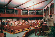 December 1976. Americus, Georgia. Sunday service at an Evangelist Church in Americus.