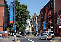 Pictured: Westgate Street Thursday 25 May 2017<br />Re: Preparations for the UEFA Champions League final, between Real Madrid and Juventus in Cardiff, Wales, UK.